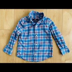 Vineyard Vines Plaid Whale Flannel Shirt